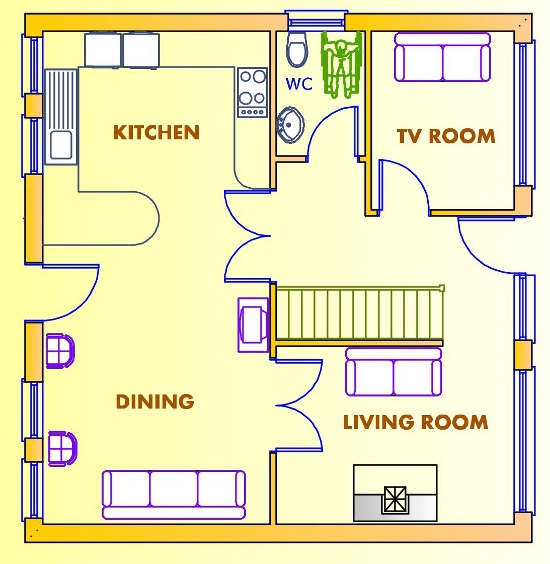 Ground floor house plans house design plans Ground floor 3 bedroom plans