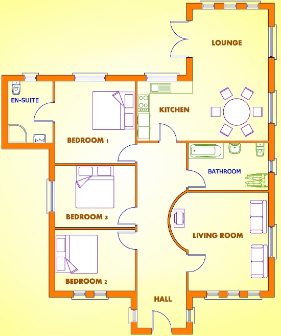 3 Bedroom House Plans In Uk House Design Ideas