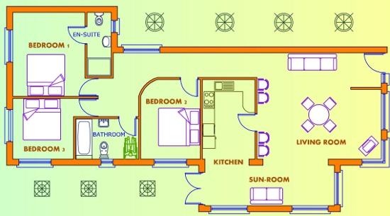 3 bed house plans uk