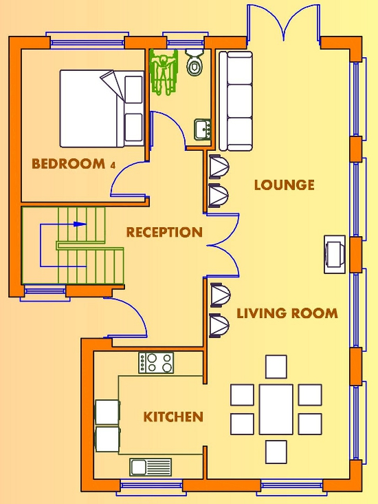 bed house plans  Buy House Plans Online  The UK    s Online House    Floor Plan