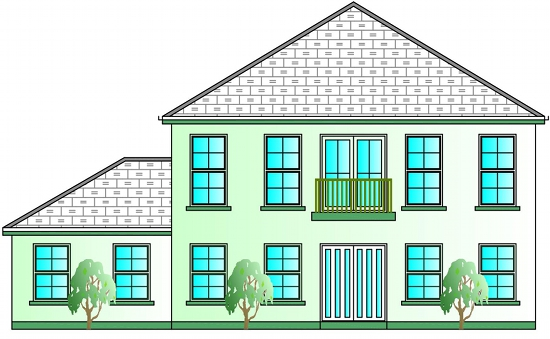 bed house plans  Buy House Plans Online  The UK    s Online House    Front Elevation