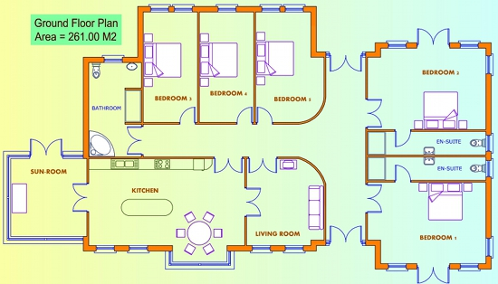 Pdf 5 bed house plans uk plans free for Five room house plan