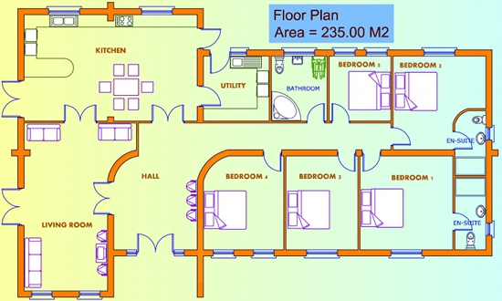 Floor Plan 5 Bed House Plans Buy House Plans Online The Uk S Online House